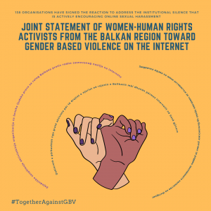Joint statement of Women Human rights activists from the Balkan region toward Gender based violence on the internet